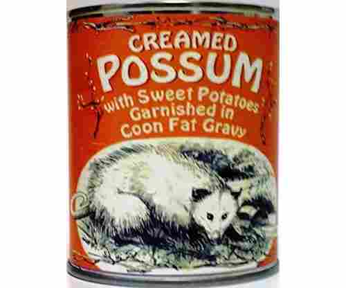 Creamed Possum in Coon Fat Gravy Garnished with Sweet Potatoes