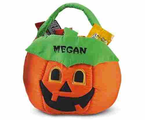 Lillian Vernon Personalized Pumpkin Halloween Treat Bag
