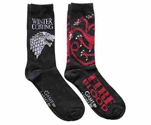 Game of Thrones Stark Targaryen Socks