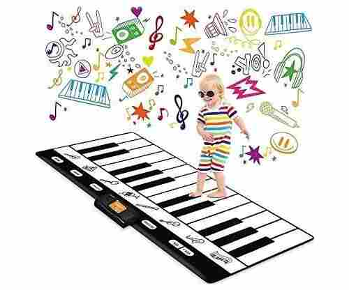 Play22 Keyboard Playmat with 24 Piano Keys