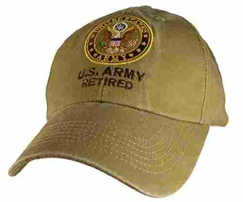 US Army Retired Cap in Khaki