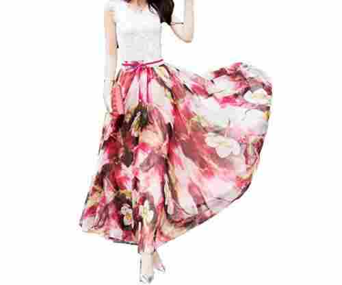 Afibi Women Blending Maxi Chiffon Skirt