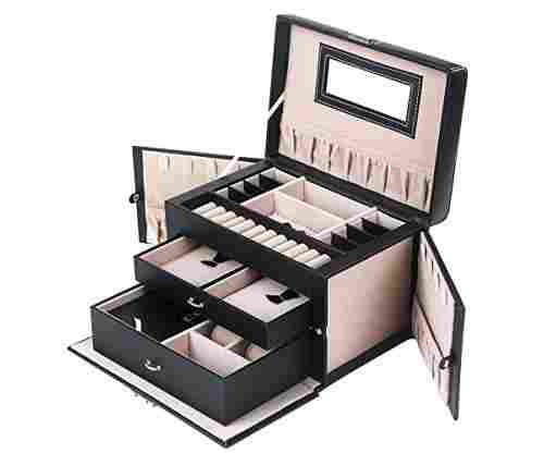 Lockable Mini Travel Case And Jewelry Box All In One