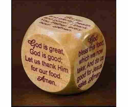 Wooden Meal Time Prayer Cube