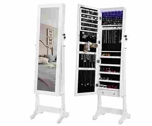 SONGMICS LED Jewelry Cabinet/Standing Mirror/Armoire