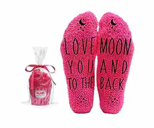 Love You to the Moon and Back Funny Socks