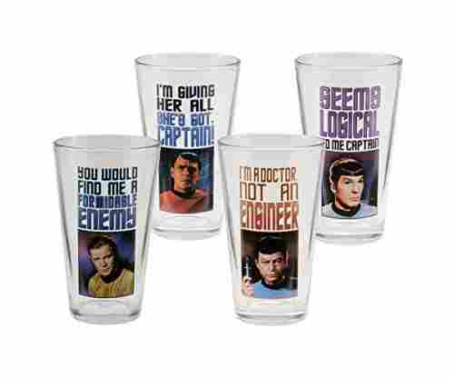 Vandor 80779 Star Trek 4 Glass Set