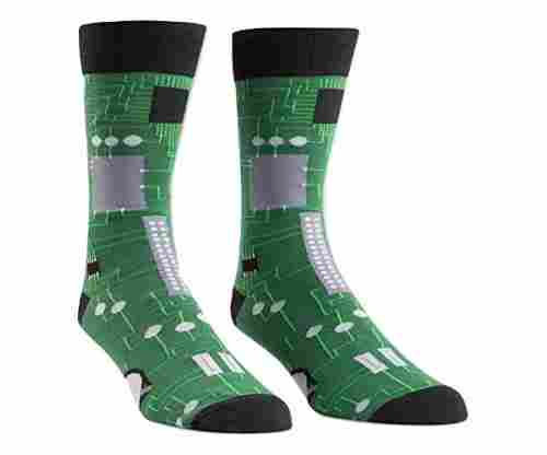 Sock It To Me Circuit Board Mens Crew Socks
