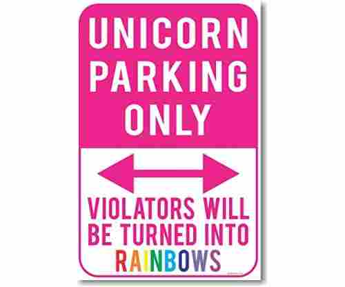 Unicorn Parking Only Poster