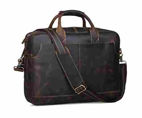 Genuine Leather Briefcase Bag for 17 inch Laptop