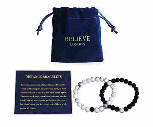 Believe London Distance Bracelets with Jewelry Bag & Meaning Card