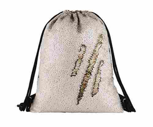 Mermaid Drawstring Bag – Magic Reversible Sequin Backpack