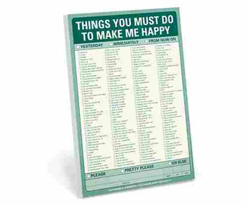 Knock Knock Pad: Things You Must Do to Make Me Happy