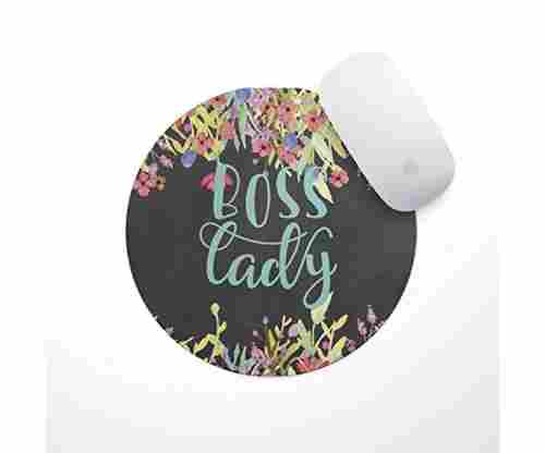 Boss Lady Floral Mouse Pad