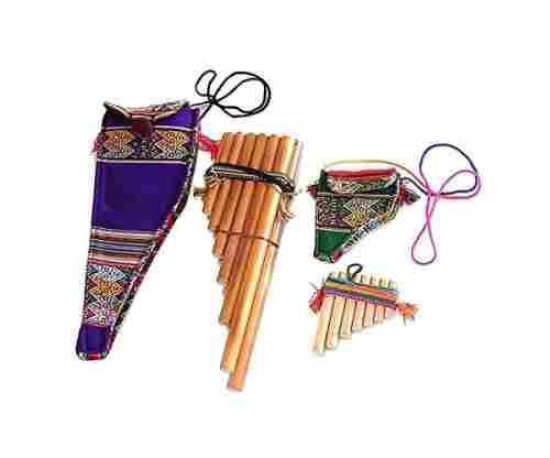 Wind Inca Serenade' (Pair) Bamboo Zampona Panpipes