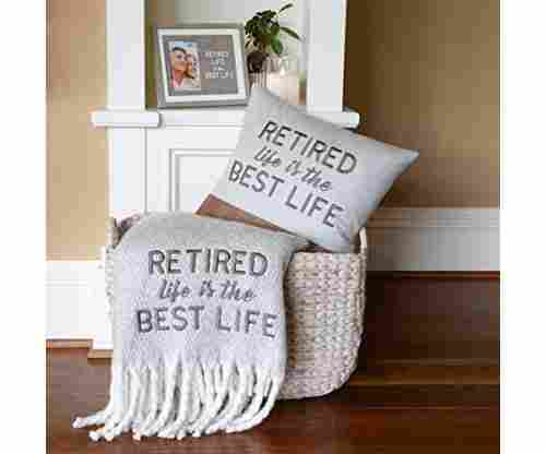 Pavilion Gift Company Best Life Embroidered Retirement Throw Blanket