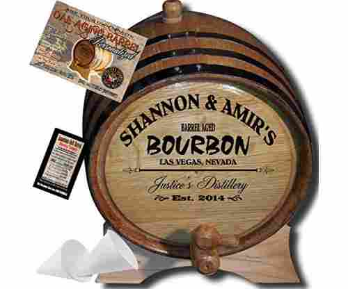 Personalized American Oak Bourbon Aging Barrel