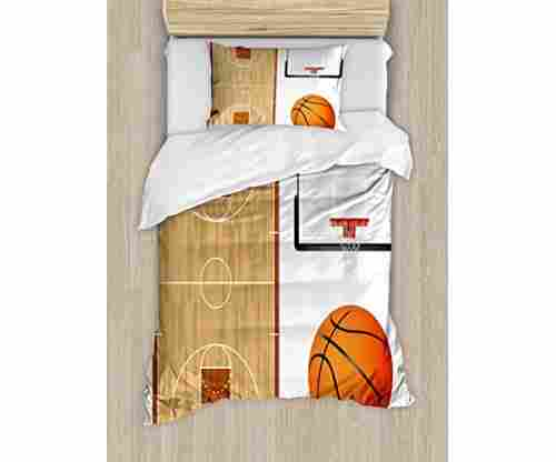 Lunarable Boys Room Duvet Cover Set – Basketball Theme