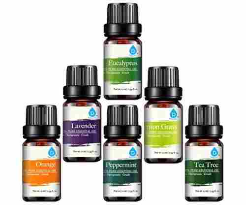 Pursonic 100% Pure Essential Aromatherapy Oils – Set of Six