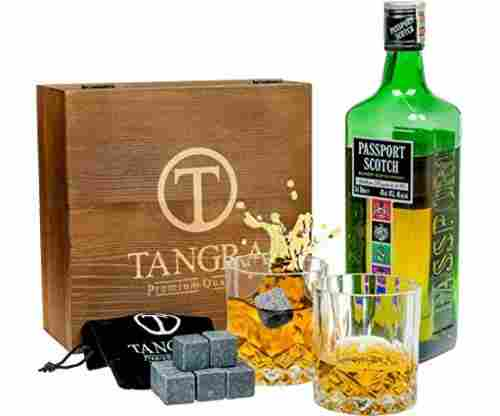 Whiskey Granite Stones Luxury Gift Set of 8 Ice Cubes