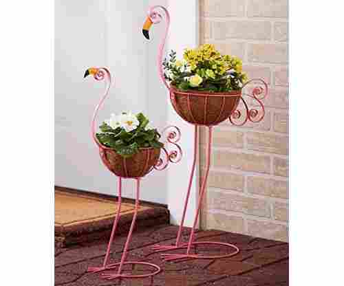 Sets of 2 Bird Planters – Flamingos