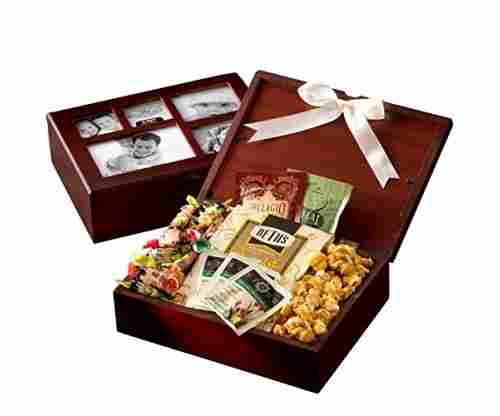Broadway Basketeers Sweets & Snacks Filled Photo Gift Box Collection