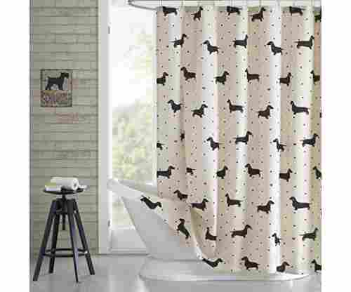 HipStyle Olivia Cotton Dachshund Printed Shower Curtain