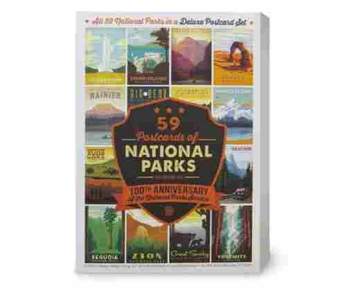 59-piece Deluxe National Parks Postcard Set
