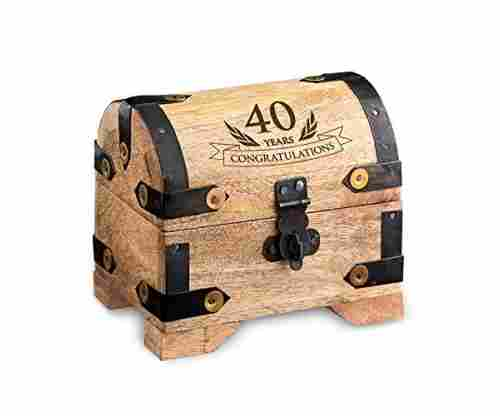 Casa Vivente Engraved Treasure Chest