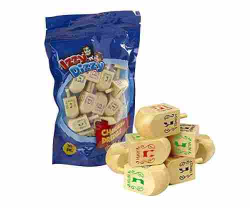 30 Medium Wood Dreidels – Classic Chanukah Spinning Dreidel Game