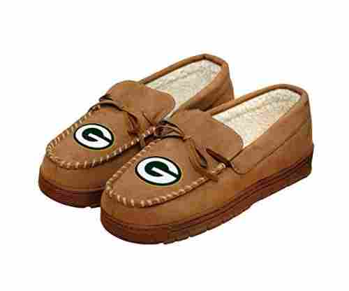 Forever Collectibles NFL Football Moccasin Slippers Shoe
