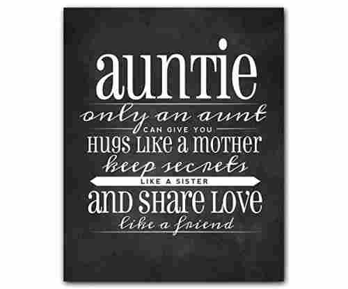 Auntie Quote Chalkboard Wall Art