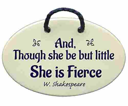 Though She Be But Little She Is Fierce – Shakespeare