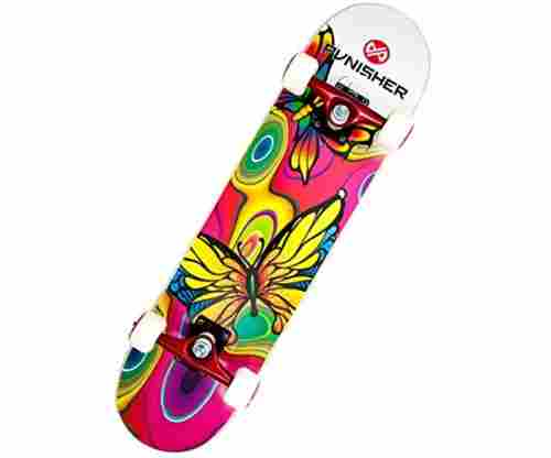 Punisher Skateboards Butterfly Jive 31-Inch Skateboard with Canadian Maple