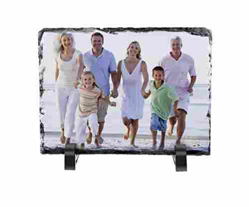 Personalized Rock Slate Photo Plaque Picture Frame