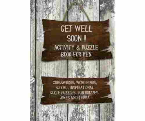 Get Well Soon Activity and Puzzle Book for Men – Paperback