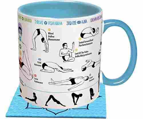 How To Yoga Coffee Mug – Ceramic Mug and Coaster