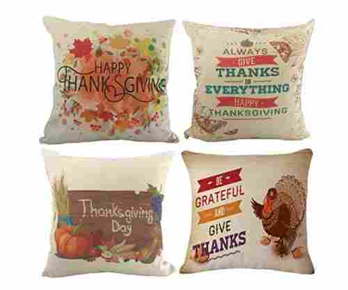 Happy Thanksgiving Throw Pillow Covers