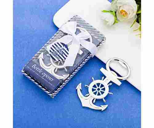 16Pcs Nautical Themed Anchor & Wheel Beer Bottle Opener Party Favors