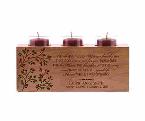 Personalized 'I Lived While I Was Strong' Memorial Candle Holder