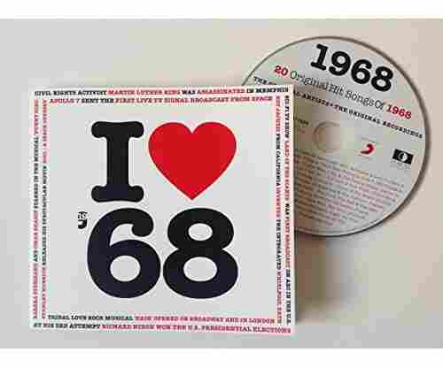 1968 – I Love 1968 Compilation Music Hits CD