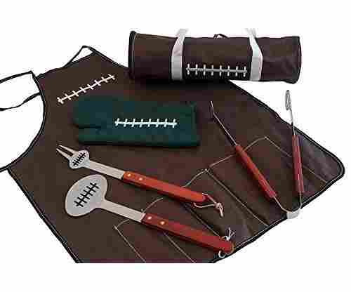 All American Football BBQ Set: All Tools Included