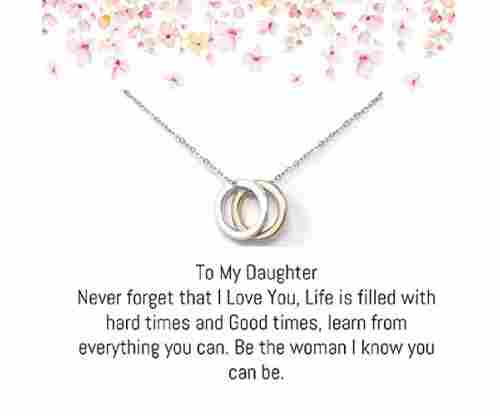Mother Daughter Ring Necklace – Gold and Silver