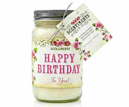 Scentiments Happy Birthday Lavender Scented Candle