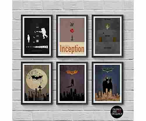 Christopher Nolan Minimalist Posters – Set of 6 Films