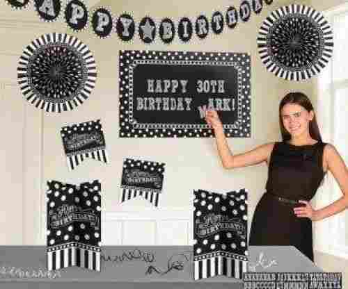 Black and White Customizable Room Decorating Kit