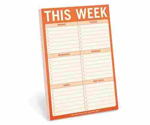 Knock Knock Notepads: This Week Pad