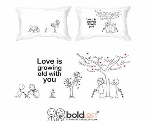 Grow Old with You – His and Hers Pillowcases