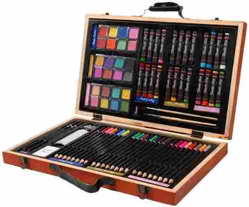 Darice 80-Piece Deluxe Art Set – Art Supplies for Drawing