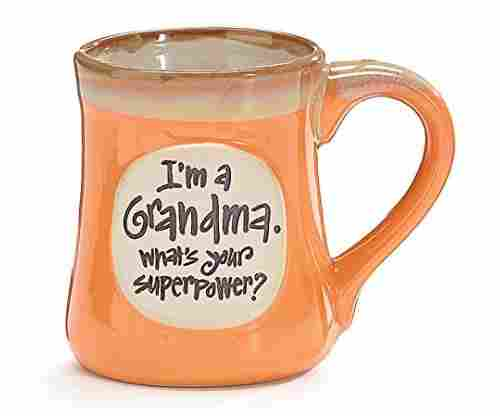 """I'm a Grandma, What's Your Superpower"" Porcelain Coffee Mug"